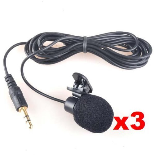 Neewer 3x 3.5mm Hands Free Computer Clip on Mini Lapel Microphone