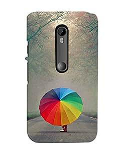 Fuson 3D Printed Designer back case cover for Motorola Moto G3 - D4379