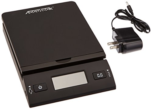 Accuteck 50 lb All-In-One Black Digital Shipping Postal Scale with Adapter (W-8250-50B) (Accuteck Digital Postal Scale compare prices)