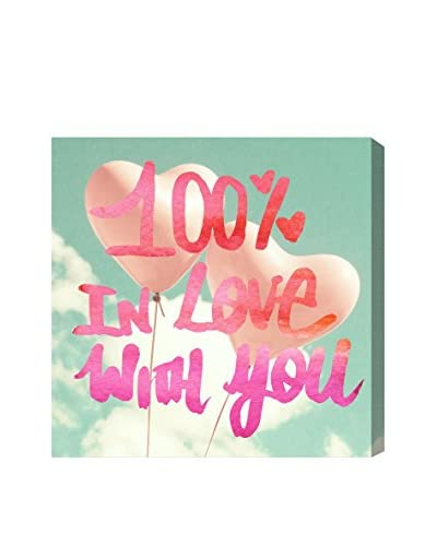 Oliver Gal 'Love You One Hundred' Canvas Art, Multi