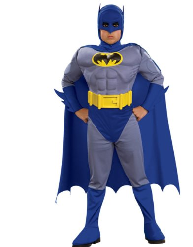 Batman Deluxe Muscle Chest Batman Child's Costume-Blue at Gotham City Store