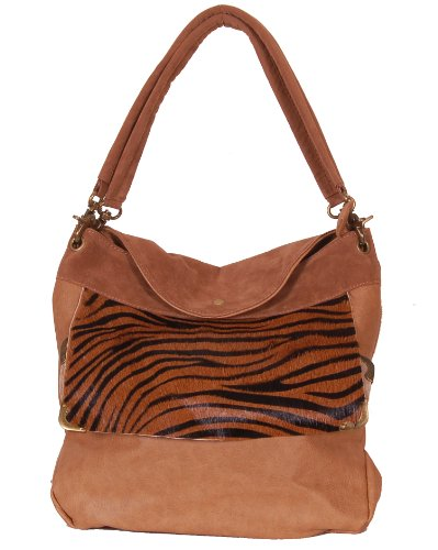 Candice LA45131CAMEL Suede Winter Collection Special Design Women Handbag Shoulder Bag Tote Hobo Bag Double Handle