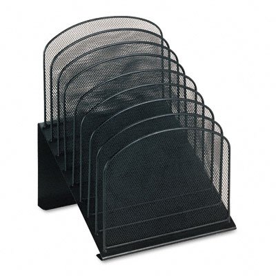 Buy Mesh desk organizer, eight tiered sections, black