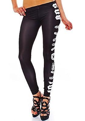 Yakuza Damen Leggings Hose skinny Basic LEB629