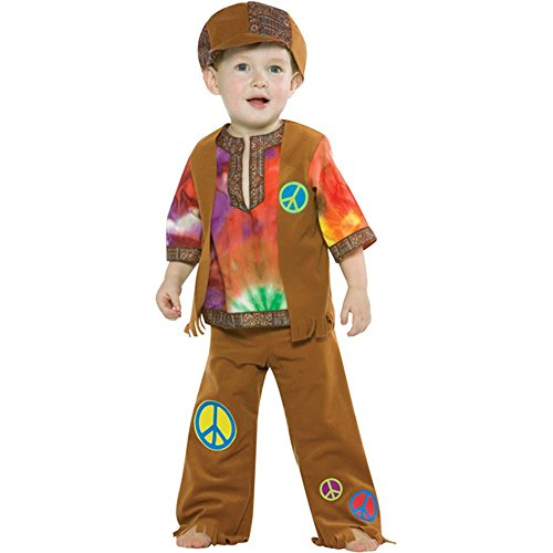 Child's Toddler Hippie Boy Costume (Size: 3-4T)