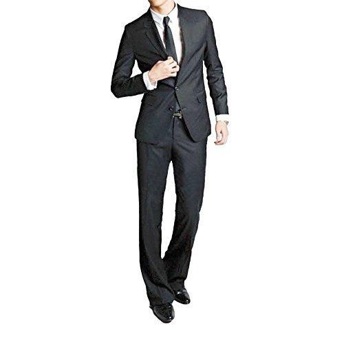 Victory Man(ビクトリー メンズ)メンズ 上下セットスーツ ビジネススーツ 2つボダン スリムスーツ ジャケット スーツセット 光沢あり立体裁断 結婚式/花婿/卒業式/通勤/礼服/入社式 高品質 ジェントルマン パンツウォッシャブル 防シワ