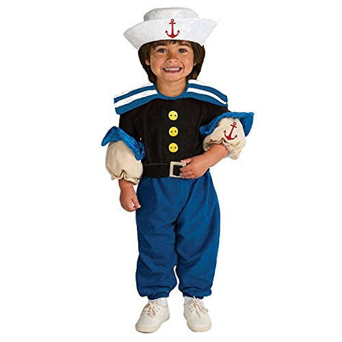 Little Muscle Sailor (Popeye) Halloween Costume & Hat: Toddler Boys Size 3T-4T