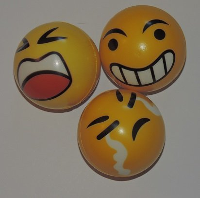 Silly Face Yellow Balls (3 Pack)