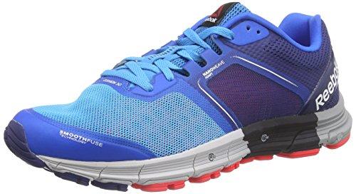 Reebok - One Cushion 3.0, Sneakers da uomo, multicolore (farout blue/cycle blue/club blue/neon cherry/steel/garvel), 44