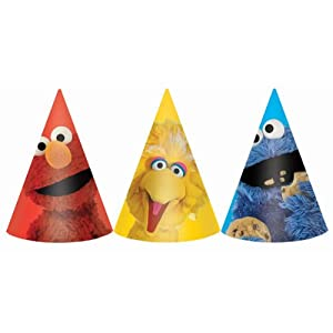 Amscan 220679 Sesame Street Party - Cone Hats [Toy] from AMSCAN *