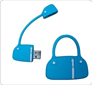 Handbag 2.0 USB Memory Stick 8GB Blue. Dispatched Next Day Via First Class Post. Presented In A Magnetic Gift Box.