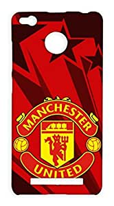 Xiaomi Redmi 3s Prime Manchester United Football Club Design Back Cover - Printed Designer Cover - Hard Case - XIRMI3SPCMBMUFC0158