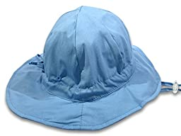 Baby Sun Hat By Colwares - 100% Cotton Sun Protection With Wide Brim (Light Blue, 36 Months)