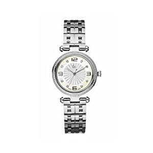 Guess X17110L1S 32 Diamonds Silver Steel Bracelet & Case Anti-Reflective Sapphire Women's Quartz Watch