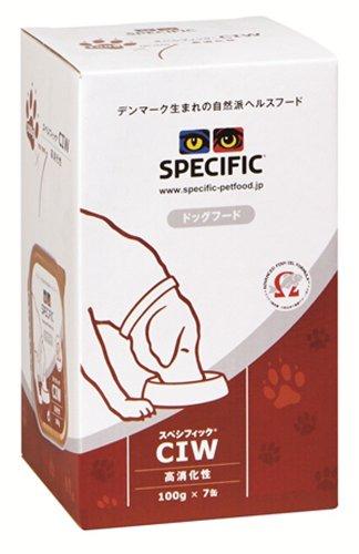 スペシフィック (SPECIFIC) 療法食 高消化性CIW 犬用 100g×7個