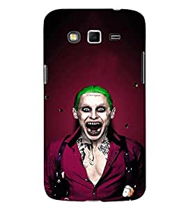 EPICCASE Scary Man with Greem hair Mobile Back Case Cover For Samsung Galaxy Grand 2 (Designer Case)