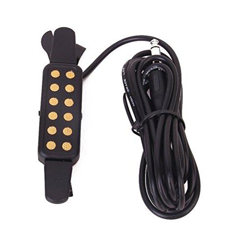 Foxnovo Amplificatore portatile clip-on Acoustic Guitar Pickup Chitarra suono (nero)