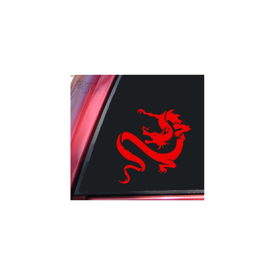 Chinese Dragon Vinyl Decal Sticker   Red Automotive