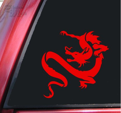 Chinese Dragon Vinyl Decal Sticker - Red