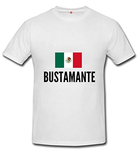 T-shirt Bustamante city white