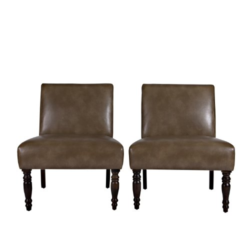 Angelo home bradstreet chair in milk chocolate brown renu leather set of 2 furniture chairs Angelo home patio furniture