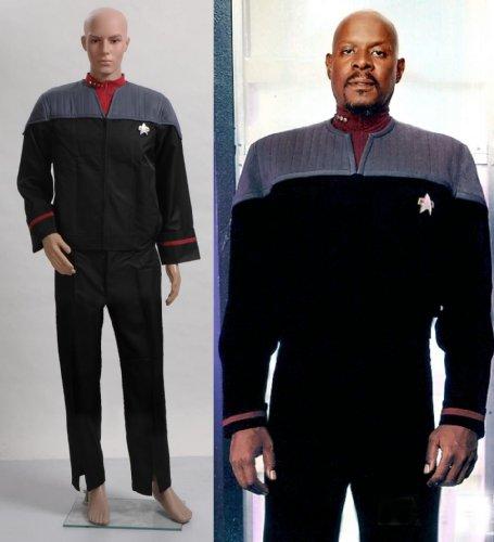 Star Trek Nemesis Voyager Kapitän Sisko Uniform Kostüm *Maßgeschneidert* hier kaufen