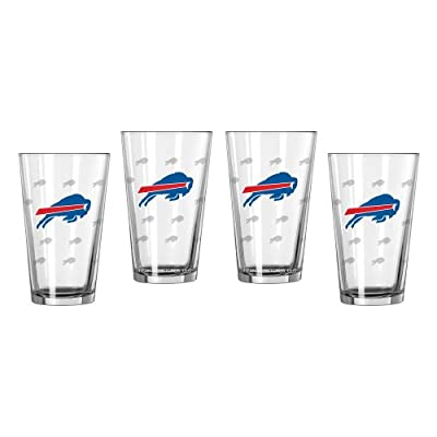 NFL Bills Pint Glasses | Buffalo Bills Beer Glasses, Set of 4