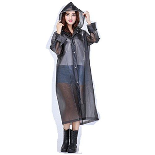 Cirkleoutdoor Women's Raincoat Lightweight Belted Rain Jacket PVC Trench Coat