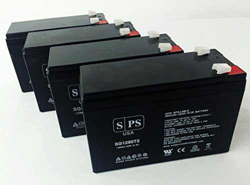 Sps Brand Ge Digital Energy It Series Ups2000Itsit Ups2000Itsir 12V 9Ah Replacement Battery ( 4 Pack)