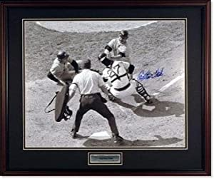 Carlton Fisk Autographed Photo - Black and White Photo - With Munson at Plate -... by Sports Memorabilia