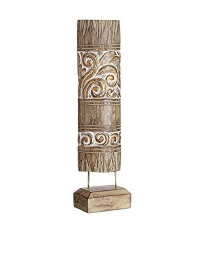 Oriental Figura Decorativa Étnico Oro/Marrón