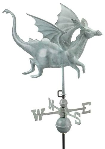 Aluminum Dragon Weathervane - Standard Sized