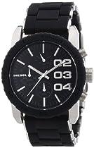 DIESEL Round Chronograph Silicone Bracelet Watch