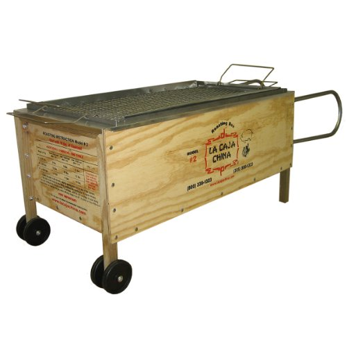 La Caja China #2 100 Lbs with Free Meat Thermometer and Syringe (China Box Pig Roaster compare prices)