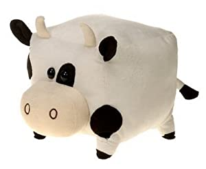 Cute Cube Shaped Plush Cow - Great For Stacking