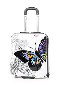 Members Miro Printed Hardshell 50cm Two Wheel Case in Butterfly Print