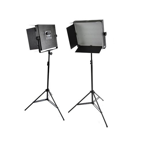 Cowboystudio Two 900 Led Banks And Light Stands Kit, With Dimmable Photography Video Studio Led Lighting Light Panel