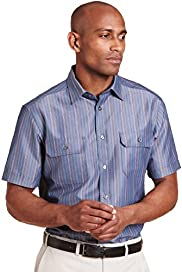 Modal Blend Soft Short Sleeve Striped Shirt