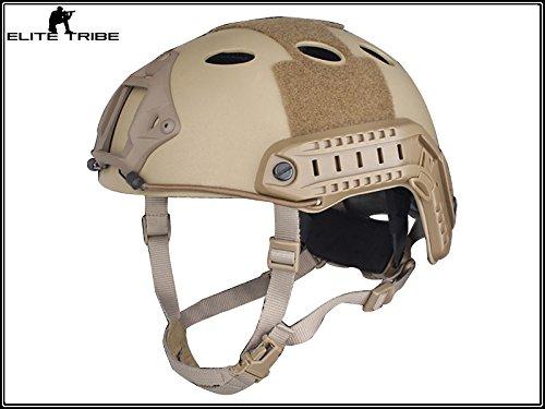 Military Airsoft Paintball Helmet Combat Tactical Carbon Fiber FAST Helmet PJ Type Dark Earth (Carbon Tactical Helmet compare prices)