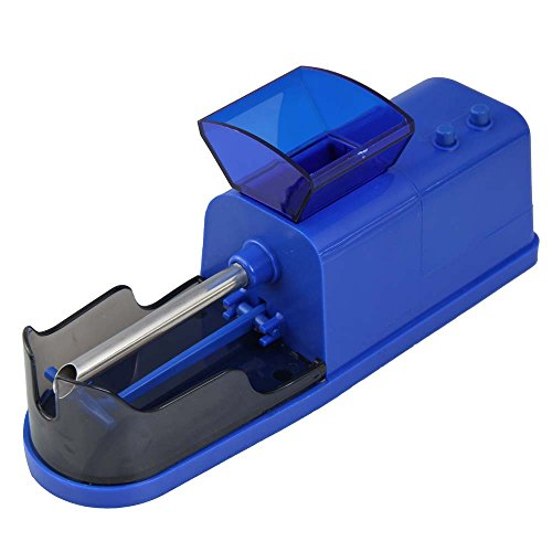 Vktech Electric Tobacco Cigarette Rolling Injector Auto Cigaret Roller Machine (Blue)