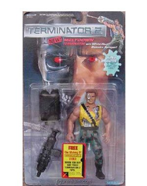 Meltdown Terminator with White-heat Bazooka Sprayer! - Terminator 2: Judgment Day Action Figure - 1