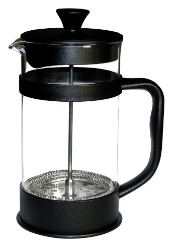 Francois Et Mimi Borosilicate Glass French Press Coffee Maker, 12-Ounce, Black