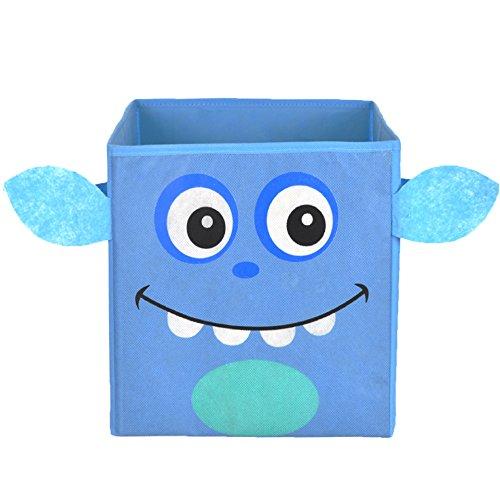 Nuby Monster Folding Storage Bin, Blue