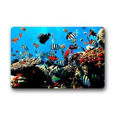 """Dalliy Pesce tropicale Zerbino Personalizzato Doormat 23.6""""x15.7"""" about 59.9cmx39.8cm"""