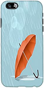 Snoogg abstract rainy season background with waterdrops and clouds Hard Back Case Cover Shield For Apple Iphone 6 S / 6s