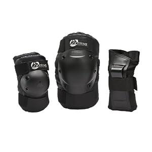 K2 Prime Pack de protège-poignet + coudière + genouillère Homme Noir L