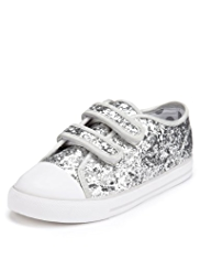 Sequin Embellished Riptape Trainers