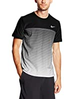 Nike Camiseta Manga Corta (Negro / Gris)