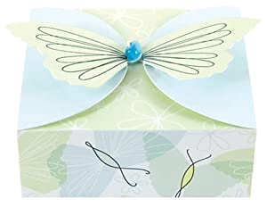 The Gift Wrap Company Butterfly Breezes Goodie Gifter Box, 2 Boxes per Package (Pack of 12)