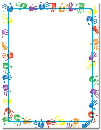 Great Papers! Baby Handprints Letterhead - 100 Sheets front-339730